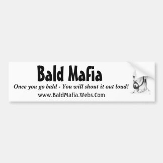Bald Mafia Bumper Sticker