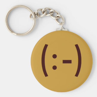 Bald Man Basic Round Button Key Ring