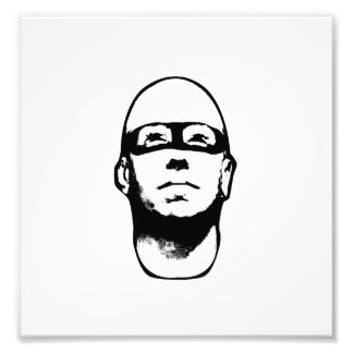 Baldhead Hero Illustration Photo Print
