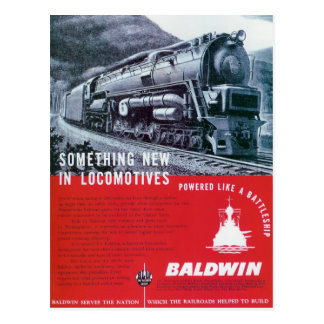 Baldwin Locomotive  S-2 Steam Turbine Locomotive Postcard