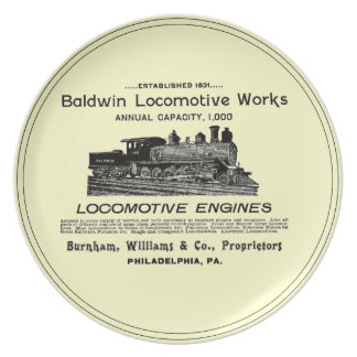 Baldwin Locomotive Works 1895 Dinner Plates