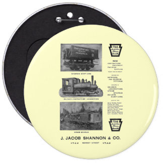 Baldwin Locomotive Works Contractor's Locomotives 6 Cm Round Badge