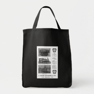 Baldwin Locomotive Works Contractor's Locomotives Grocery Tote Bag