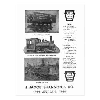 Baldwin Locomotive Works Contractor's  PostCard