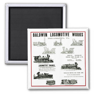 Baldwin Locomotive Works Magnets