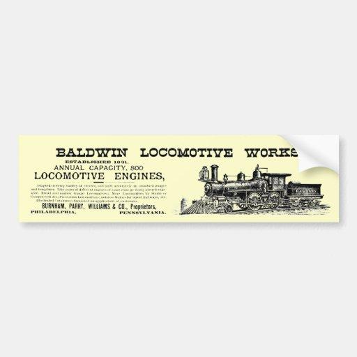 Baldwin Locomotive Works Railway Locomotives Bumper Stickers