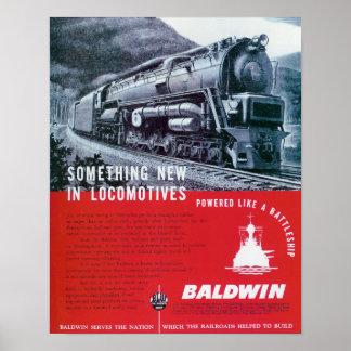 Baldwin Locomotive Works Steam Turbine Locomotive. Poster