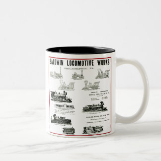 Baldwin Locomotive Works Two-Tone Coffee Mug