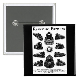 Baldwin Locomotives,Revenue Earners 15 Cm Square Badge