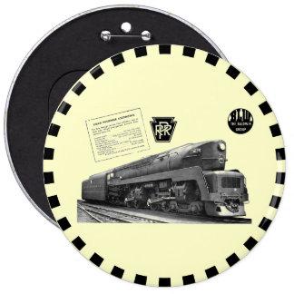 Baldwin-Pennsylvania Railroad T-1 Steam Locomotive 6 Cm Round Badge