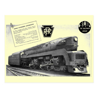 Baldwin-Pennsylvania Railroad T-1 Steam Locomotive Postcard