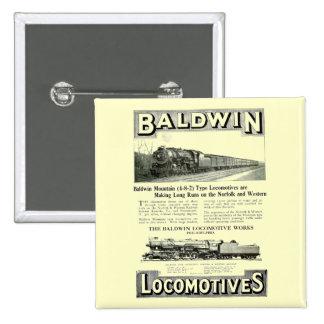 Baldwin Steam Locomotive Mountain Type in 1924 15 Cm Square Badge