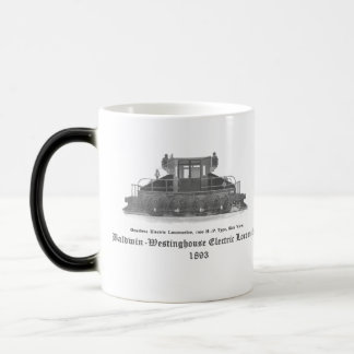 Baldwin Westinghouse Electric locomotive 1893 Magic Mug
