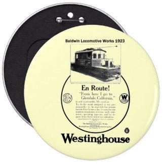 Baldwin-Westinghouse Locomotive 1923 Buttons