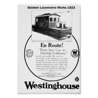 Baldwin-Westinghouse Locomotive 1923 Poster