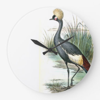 Balearic Crane Bird Wildlife Animal Wall Clock