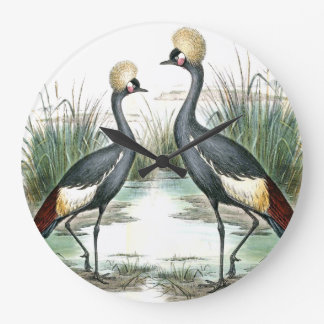 Balearic Crane Birds Wildlife Animal Wall Clock