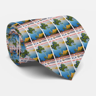 Balearic Islands Vintage French Travel Tie