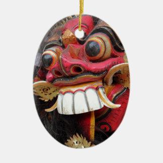 Bali Barong mask Christmas Ornament