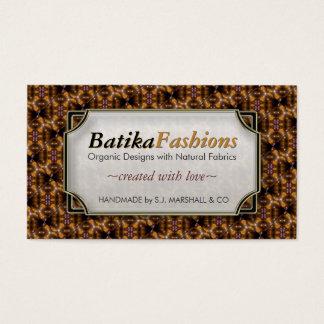 Bali Batika Fashion Modern Pattern Business Cards