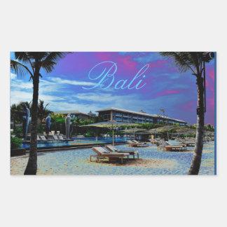 Bali Beach Resort Indonesia Rectangular Sticker