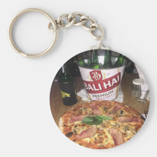 Bali beer and Pizza Key Ring