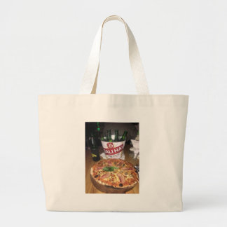 Bali beer and Pizza Large Tote Bag