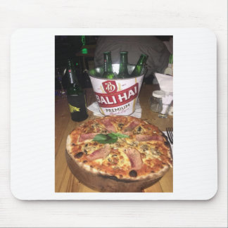 Bali beer and Pizza Mouse Pad