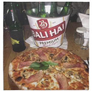 Bali beer and Pizza Napkin
