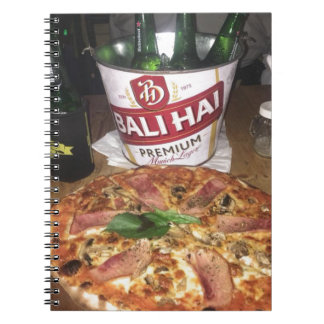 Bali beer and Pizza Notebook