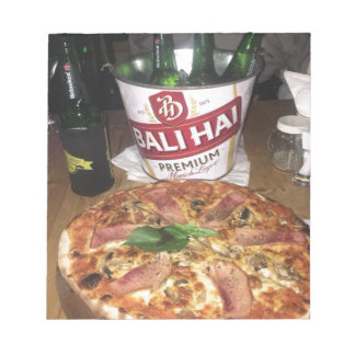 Bali beer and Pizza Notepad