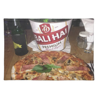 Bali beer and Pizza Placemat