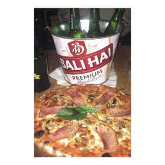 Bali beer and Pizza Stationery