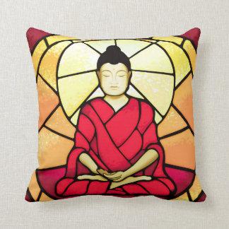 Bali buddha stain glass window cushion