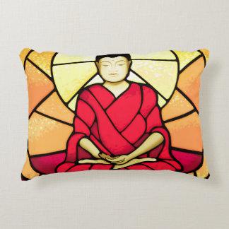 Bali buddha stain glass window decorative cushion