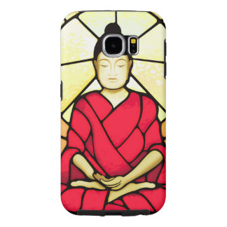 Bali buddha stain glass window samsung galaxy s6 cases