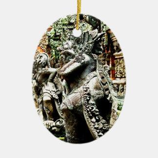 Bali Ceramic Oval Decoration
