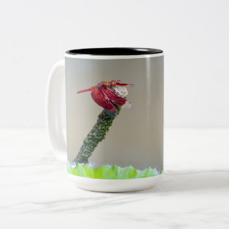 Bali firefly (right handed) Two-Tone coffee mug
