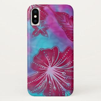 Bali Flower Batik Tropical iPhone X Case
