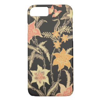 Bali Flowers Batik iPhone 7 Case