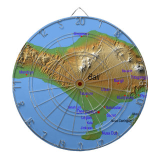 Bali Holliday Map Dartboard