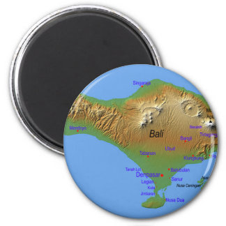 Bali Holliday Map Magnet