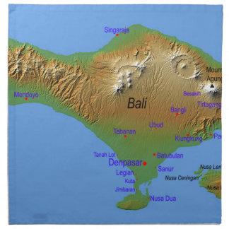 Bali Holliday Map Napkin