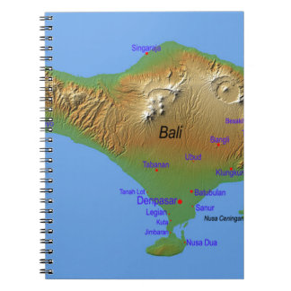 Bali Holliday Map Notebook