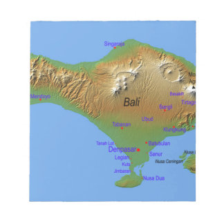 Bali Holliday Map Notepad