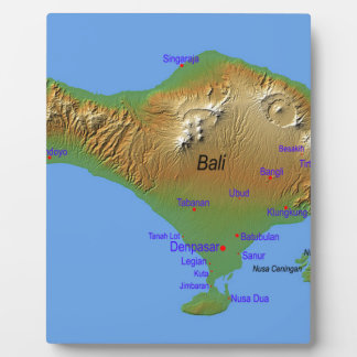 Bali Holliday Map Plaque