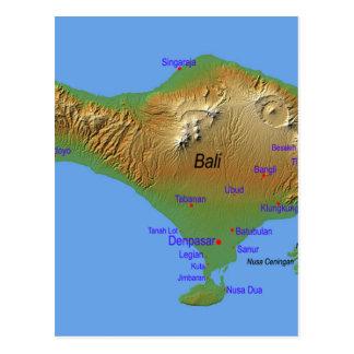 Bali Holliday Map Postcard