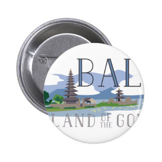 Bali Island Of Gods 6 Cm Round Badge