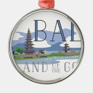 Bali Island Of Gods Silver-Colored Round Decoration