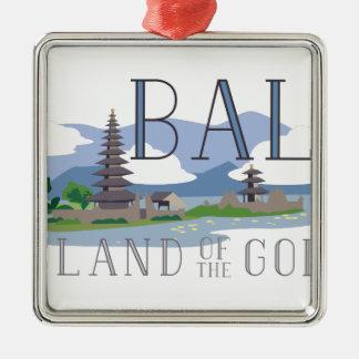 Bali Island Of Gods Silver-Colored Square Decoration